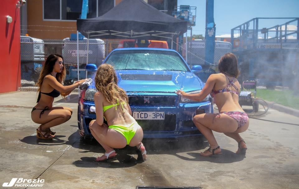 gtr bikini carwash