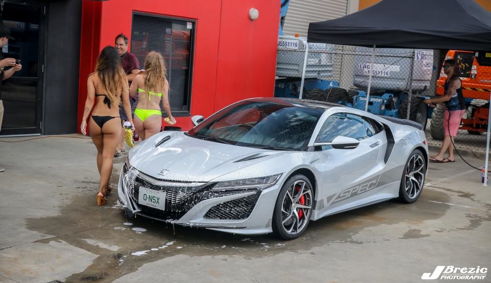 honda nsx bikini carwash
